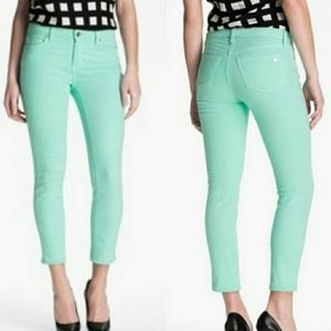 Kate Spade Broome Street Skinny Ankle Jeans Green